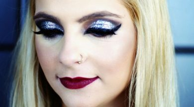 Glam Holiday MakeUp com glitter para festas!